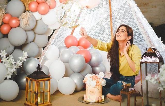 Actress Maya Ali celebrates her 32nd birthday with balloons